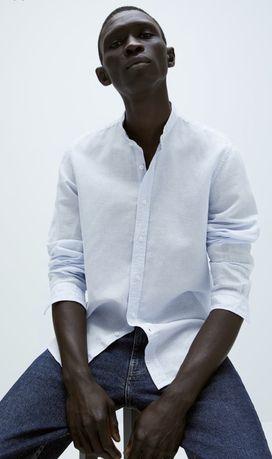 Рубашка лен Zara