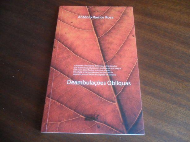 """""""Deambulações Oblíquas"""" de António Ramos Rosa - 1ª Edição de 2001"""
