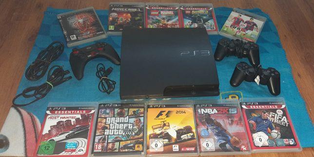 PS 3 - 10 gier i 3 pady