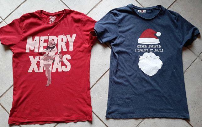 Koszulki świąteczne Christmas 170/S dla szczupłego
