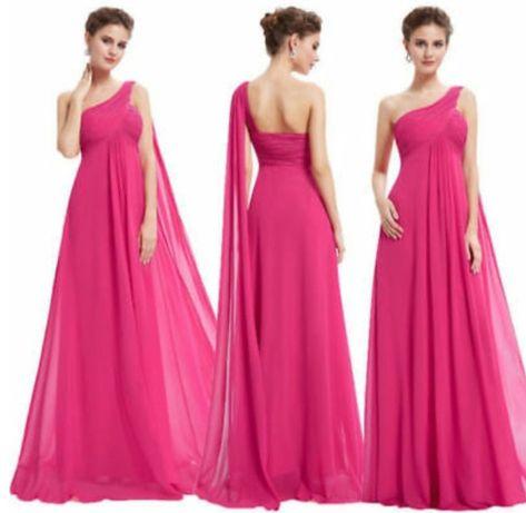 Новое розовое платье в пол