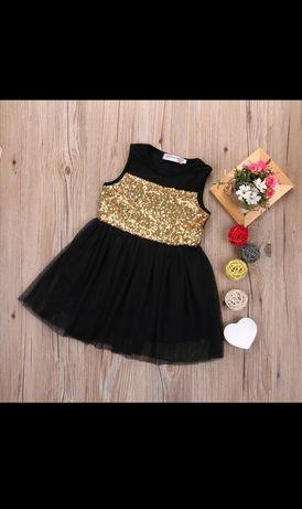NOWA, piękna sukienka z cekinami