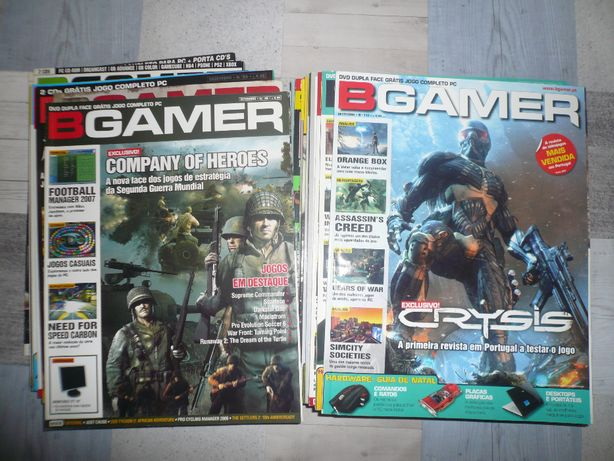 Revistas BGamer, Mega Score, PC Guia + cds/dvds