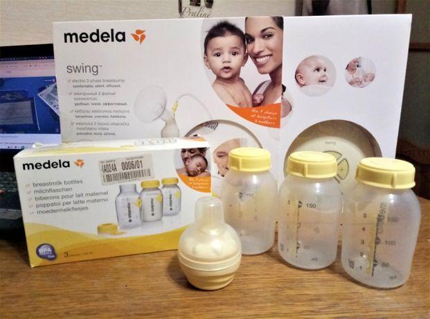Бутылочки для сбора и хранения грудного молока Medela + соска Calma