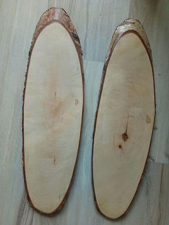 Plastry drewna półki