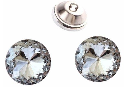 Guziki tapicerskie kryształek kryształki 30 mm 40 szt