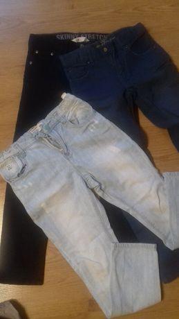 Spodnie  3 szt. H&M Reserved 128 okazja