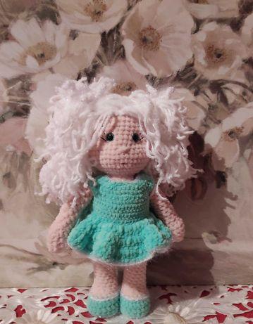 Плюшевая куколка Handmade Сделано с любовью Подарок маленьким девочкам
