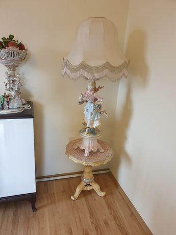Lampka figurka  porcelanowa sygnowana