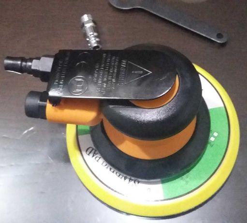 Lixadeira/Lixadora Pneumática Orbital 5MM c/ Prato Velcro 150MM