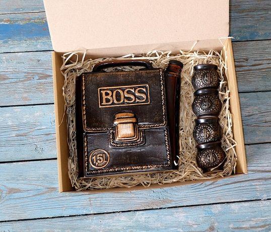 Подарочный набор Барсетка Boss, крутой подарок настоящему мужчине