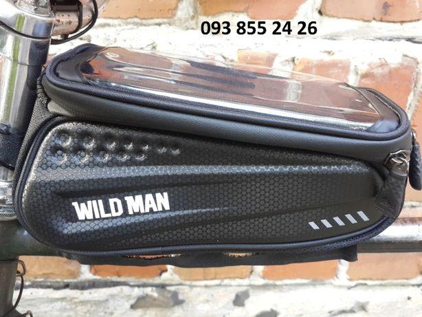 Водонепроницаемая сумка для телефону на раму велосипеда WILD MAN