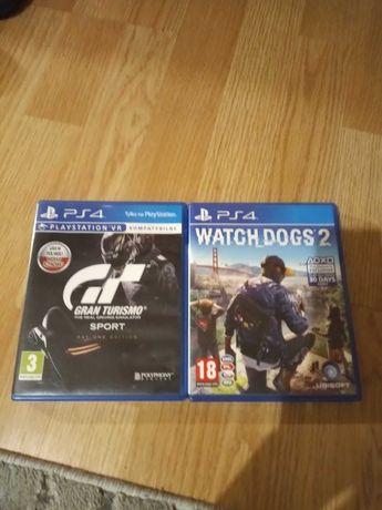 Sprzedam gry na ps4 Gran Turismo + Watch Dogs 2