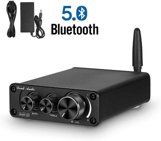 Mini wzmacniacz 2x50W z Bluetooth 5.0 i regulacją barwy dźwięku