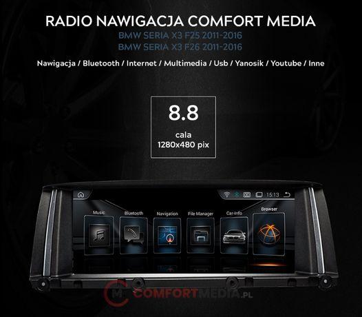 RADIO NAWIGACJA ANDROID 9.0 BMW X3 F25 rok od 2011 do 2016
