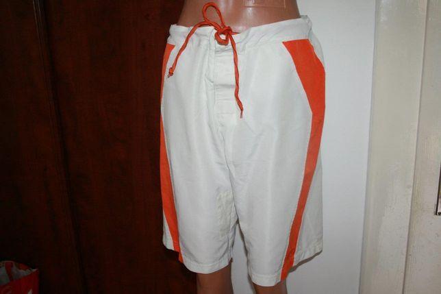 szorty Nike sportowe krótkie spodenki męskie białe pomaranczowe M