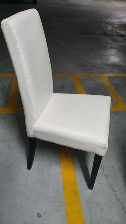 Conjunto cadeiras para mesa jantar - pés madeira, pretos
