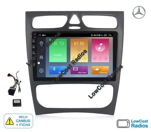 Auto Rádio 9' MERCEDES BENZ W203 e W209 | GPS ANDROID BT USB APPS WIFI