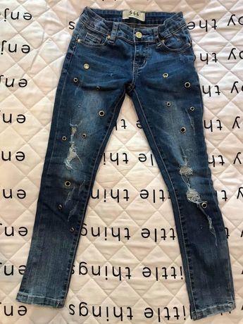 Jeansy, spodnie dziewczęce roz. 116, granatowe