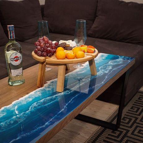 Стол журнальный стіл кухонный с эпоксидной смолой лофт мебель диван