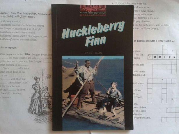 Huckleberry Finn, Mark Twain (em inglês), com fichas de leitura