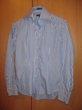 camisa sacoor azul e branca nova