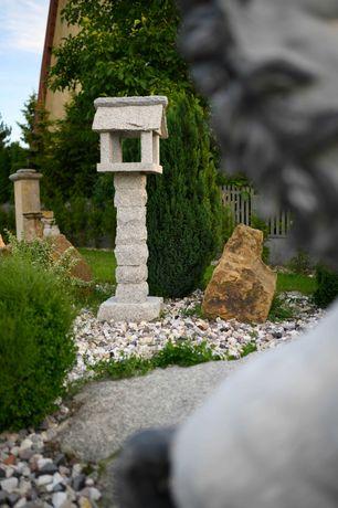 Ozdobna skrzynka na Listy karmnik dla ptaków z kamienia naturalnego
