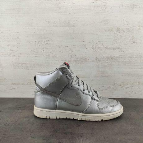 Кроссовки Nike Dunk High Skinny Metallic Silver. Размер 37