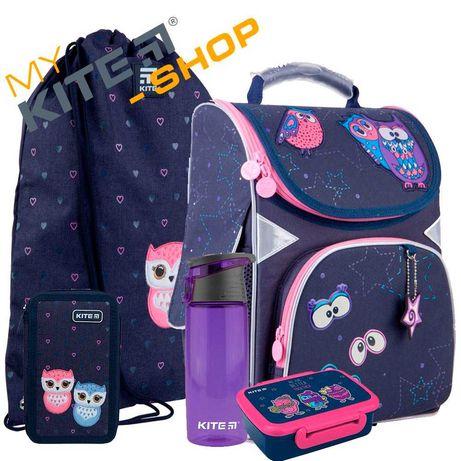 Школьный набор 5в1 КАЙТ KITE от GoPack Рюкзак сумка пенал для девочки