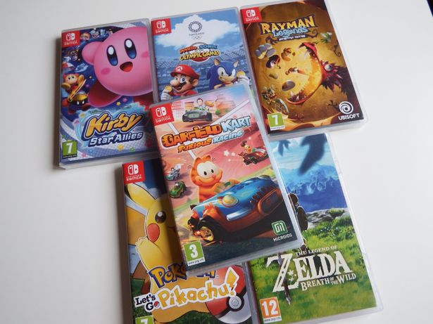 NINTENDO SWITCH GRY Garfield Kart Racing ZELDA MARIO Pokemon inne