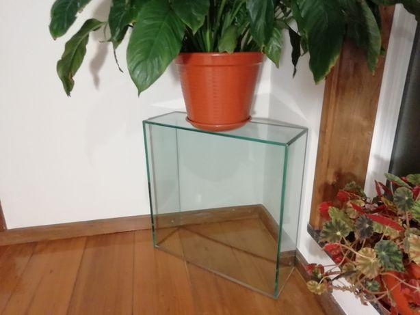 Terrário/ Vaso retangular em vidro temperado
