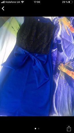Срочно.Платье синее 42