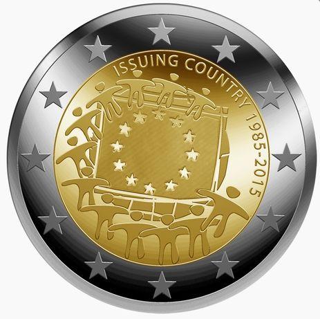Várias moedas comemorativas de 2 euros para troca ou venda