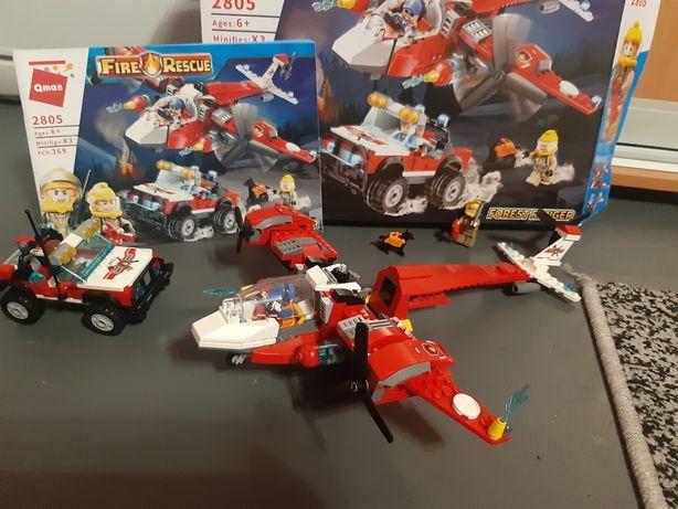 Пожарный патруль , лего, самолет, машина