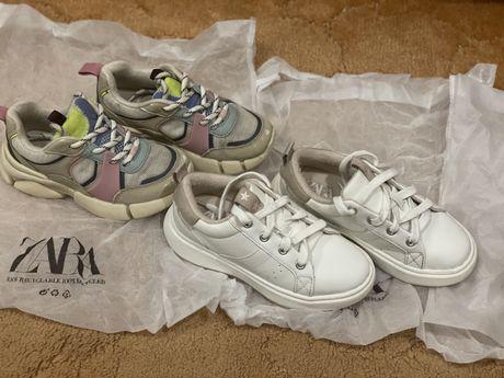 Кроссовки zara для девочки,белые кроссовки