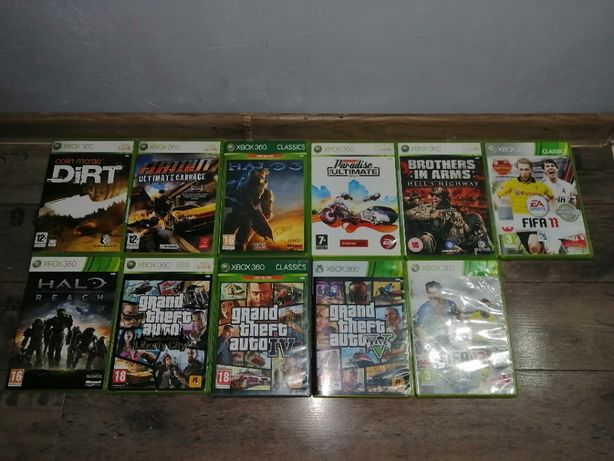 Xbox 360 Super Slim E 250GB/dwa pady/11 gier+1 gra gratis