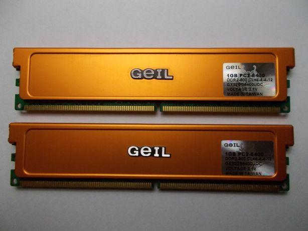 Pamięć GEIL ULTRA DDR2 2 x 1 GB 800 MHz PC6400 Sprawna PC Gwarancja