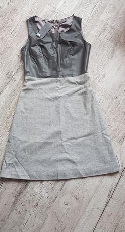 Nowa Sukienka Taboo 36 szara
