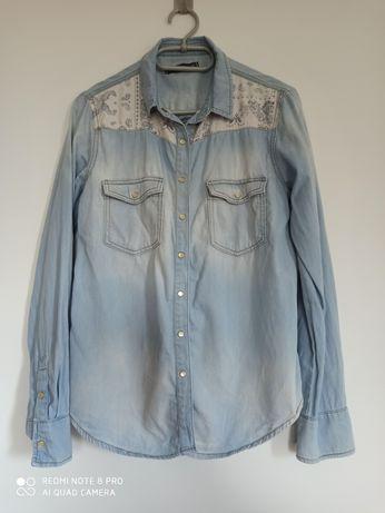 Koszula jeans Pull Bear M