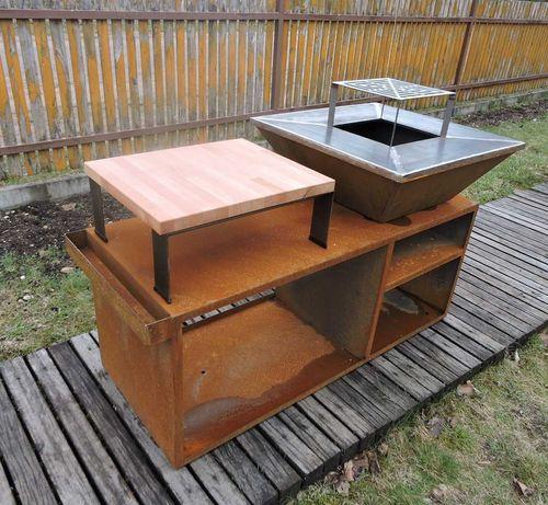 corten ,korten , grill gastronomiczny ,grill ogrodowy , kwadrat 127 kg