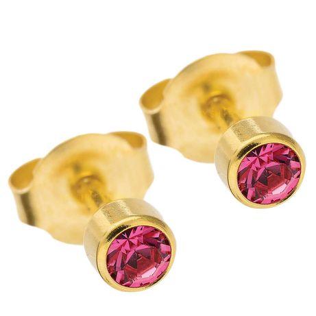 Серьги гвоздики-пусеты из медицинского золота.
