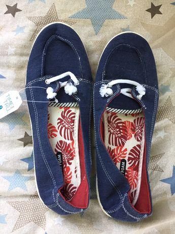 Мокасіни джинсові для дівчат