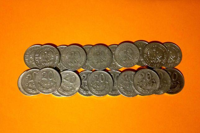 Stare monety. Nominal - 20 groszy