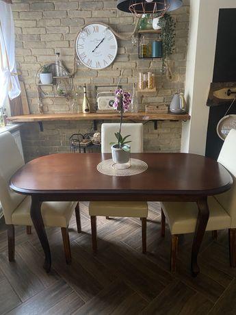 Stół drewniany + zestaw 6 krzeseł