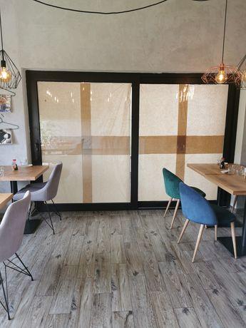 Okno przesuwne 300 x 240 brązowe metalowe tarasowe drzwi oknoplast