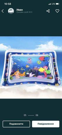 Детский водный надувной коврик Air pro inflatable water play mat