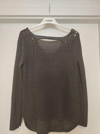 Śliwkowy sweter M