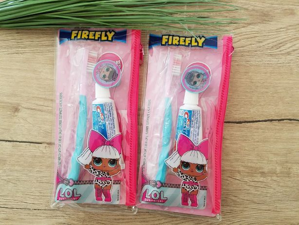 Подарочный набор Лол LOL щетка колпачок паста в сумочке оригинал США
