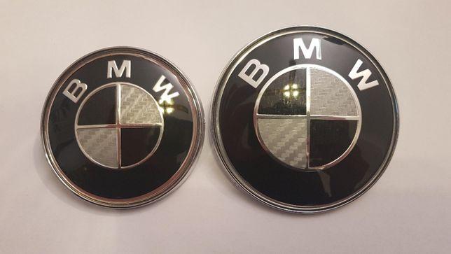 Emblemat Znaczek Logo Carbon BMW 82/74mm e46 e36 e38 e39 e60 e90 e63