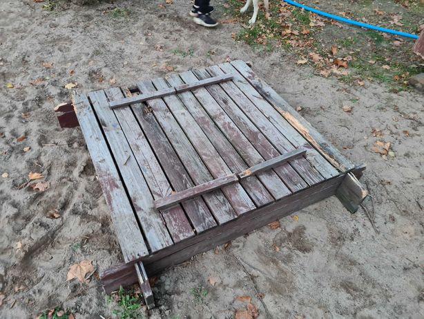 Piaskownica drewniana rozkładana